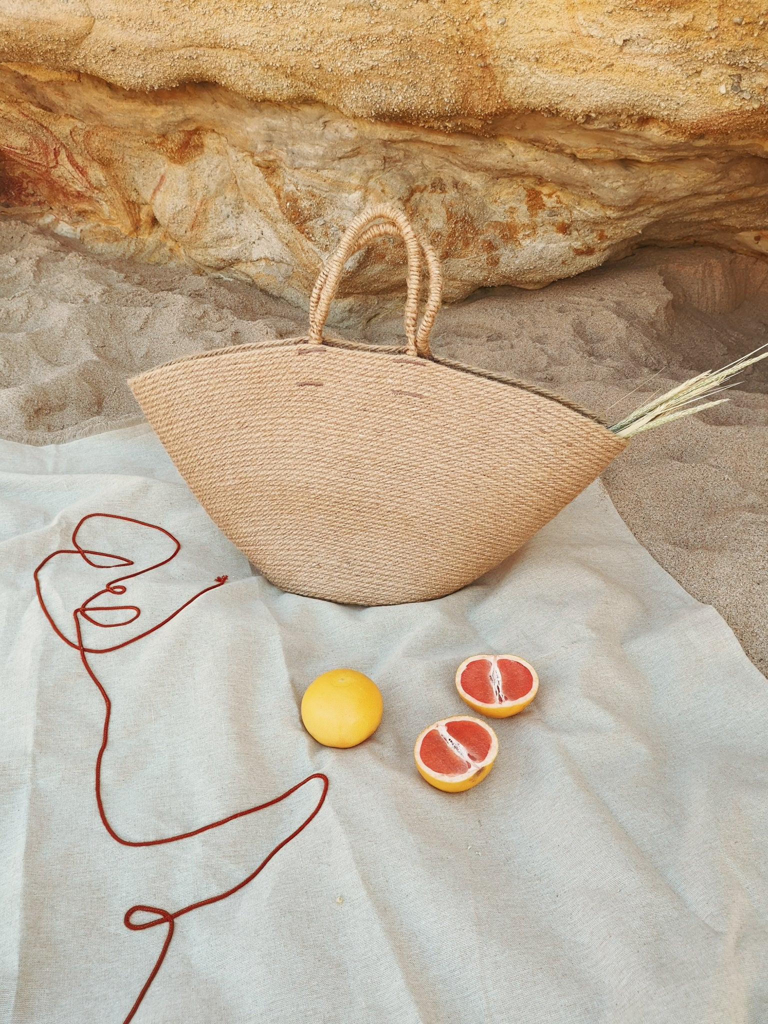 Jute Beach Basket Bag