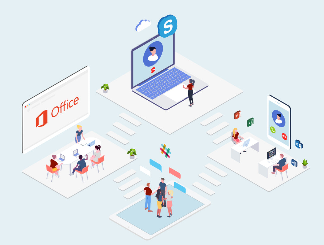 Cloud Computing Company Isometric Illustration Part 3 - 29element