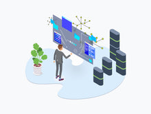 Blockchain Isometric Graphic v.6 - 29element