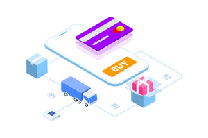 E-commerce on Blockchain Isometric 2 - FV