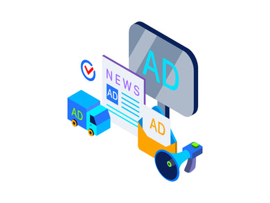 Advertising And Promotiontion Isometric Graphic - 29element
