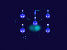 Blockchain Isometric Graphic v.4 - 29element