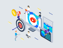 SOCIAL MARKETING ISOMETRIC - 29element