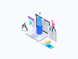 Graphic Design Isometric - 29element
