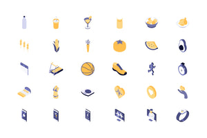 Healthy, Medicine 54 Isometric Icon - 29element