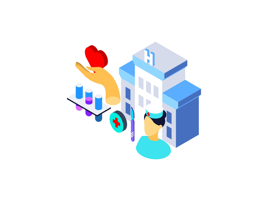 Medical Center Isometric Graphic - 29element