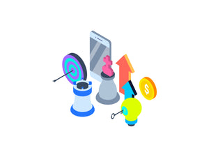 Mobile Marketing Isometric Graphic - 29element