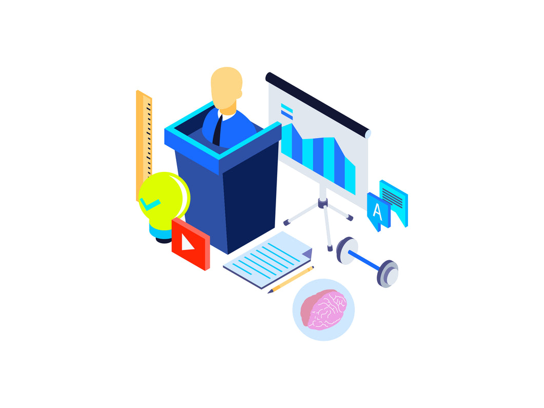 Professional Training Isometric Graphic - 29element