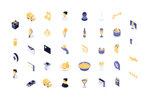 Party, Event and Service 38 Isometric Icon - 29element