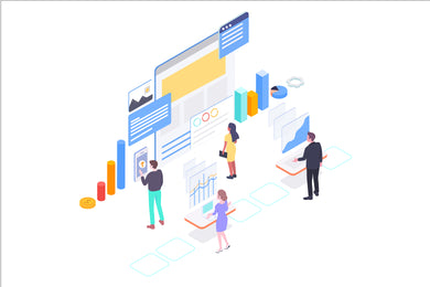 SEO Optimation Isometric Concept - 29element