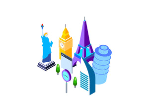 Travel and Tourism Isometric Graphic - 29element