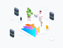Blockchain Isometric Graphic v.3 - 29element