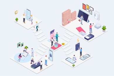 Warranty Customer Care Service Isometric Concept - 29element