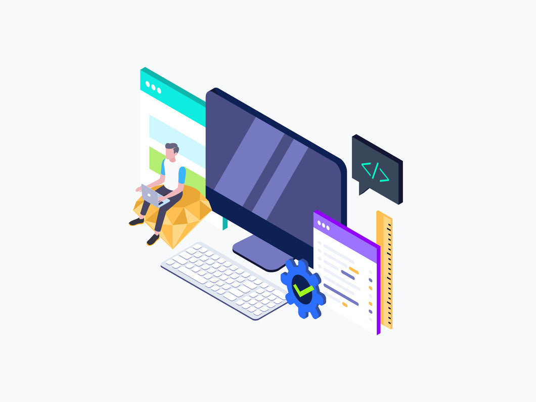 Web Design Isometric Graphic - 29element