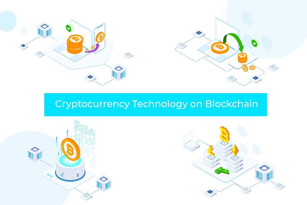 Cryptocurrency Technology Blockchain Isometric 1 - FV