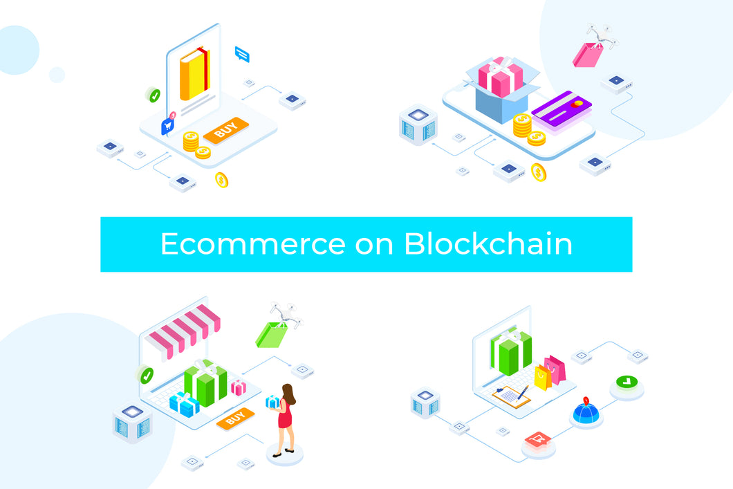 E-commerce on Blockchain Isometric 1 - FV - 29element