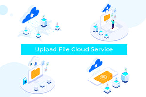 Upload File Cloud on Blockchain Isometric 1 - T2