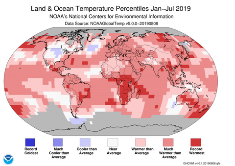 hottest month in recorded history - July 2019 - zmescience