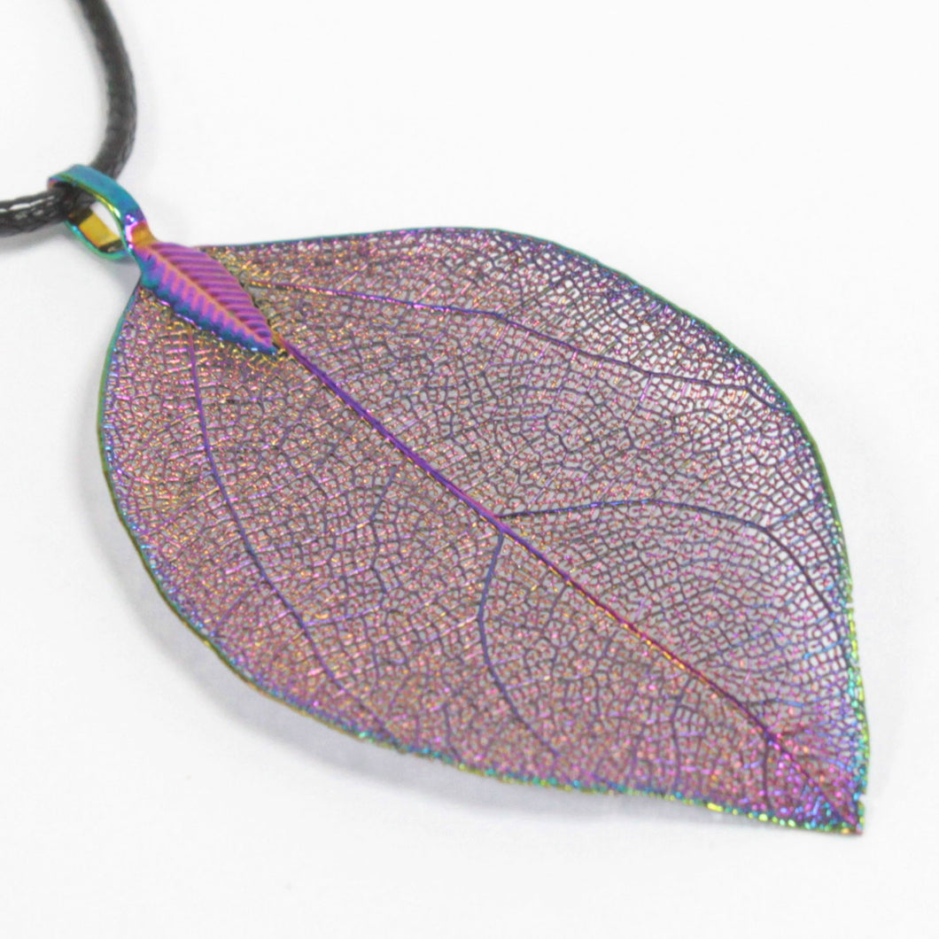 Necklace - Bravery Leaf - Multicoloured