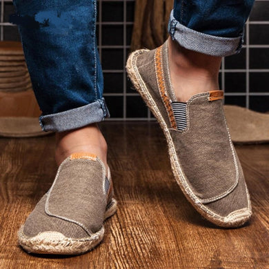 Men's Casual Canvas Espadrilles  Hemp Insole