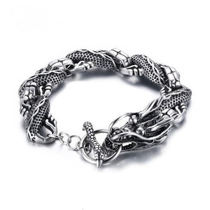 Trendy Dragon Bracelet Stainless Steel Chain Punk Style