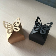 Load image into Gallery viewer, Kraft Paper Butterfly Style Gift Box 24PCS/Lot
