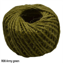 Load image into Gallery viewer, Natural Burlap Hessian Jute Craft Cord 30 meter