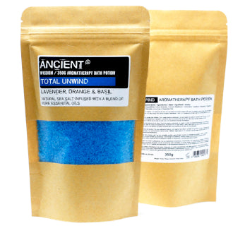 Aromatherapy Bath Potion in Kraft Bag 350g - Total Unwind