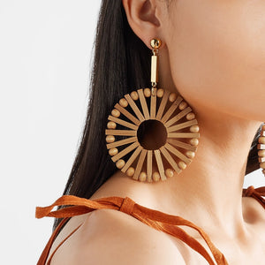 Handmade Bamboo Earrings Ethnic Fashion