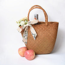 Load image into Gallery viewer, Casual Natural Straw Braided Tote Bag - Eco-friendly