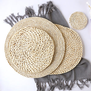 Woven Corn Dining Table Mat Heat Insulation Pot Holder Placemat