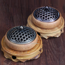 Load image into Gallery viewer, Bamboo Incense Burner with Metal Cover - Eco-friendly