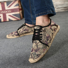 Load image into Gallery viewer, Mens Casual Breathable Shoes Lace Up Espadrilles