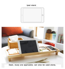 Load image into Gallery viewer, Bamboo Office/Home Desktop Organizer - Eco-friendly