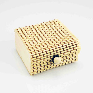 Handmade Small Bamboo Jewelry Case