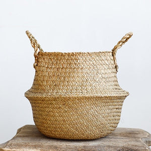 Eco-friendly Hand-Woven Rattan Storage Basket Multipurpose