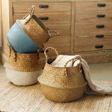 Load image into Gallery viewer, Eco-friendly Hand-Woven Rattan Storage Basket Multipurpose