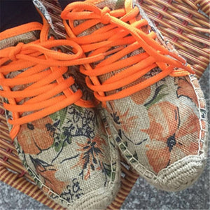Mens Casual Breathable Shoes Lace Up Espadrilles