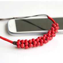 Load image into Gallery viewer, Red Ceramic Necklace Valentine's Day Gift