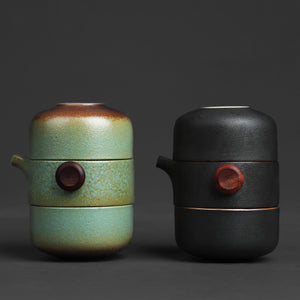 Japanese Ceramic Teapot  Set Handmade Portable