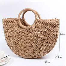 Load image into Gallery viewer, Woven Rattan Shoulder Bag