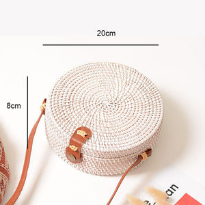 Woven Rattan Shoulder Bag
