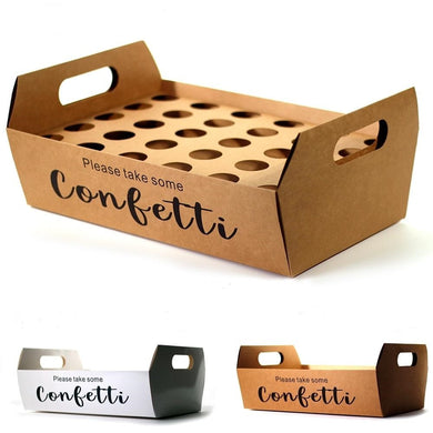KRAFT paper confetti cone holder box tray for parties