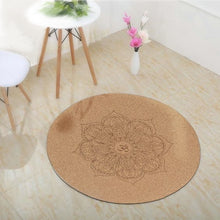 Load image into Gallery viewer, Cork Yoga Mat Round Non-slip Eco-friendly