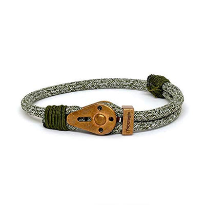 Yosemite / Green Melange / Raw Brass - Yosemite - Inspired by Rock-climbing - Matching Couple Bracelets - Topologie