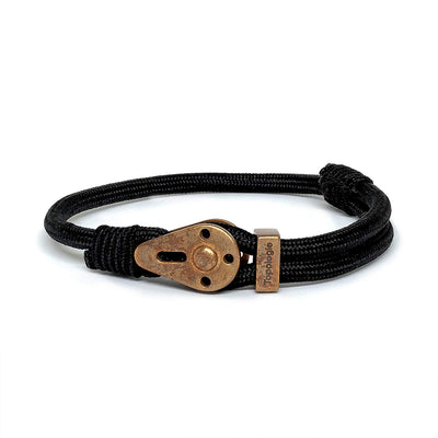Yosemite / Black Solid / Raw Brass - Yosemite - Inspired by Rock-climbing - Matching Couple Bracelets - Topologie