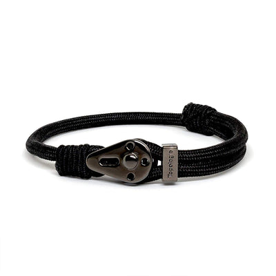 Yosemite / Black Solid / Chrome Black - Yosemite - Inspired by Rock-climbing - Matching Couple Bracelets - Topologie