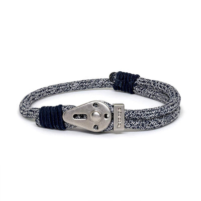 Yosemite / Navy Melange / Silver - Yosemite - Inspired by Rock-climbing - Matching Couple Bracelets - Topologie