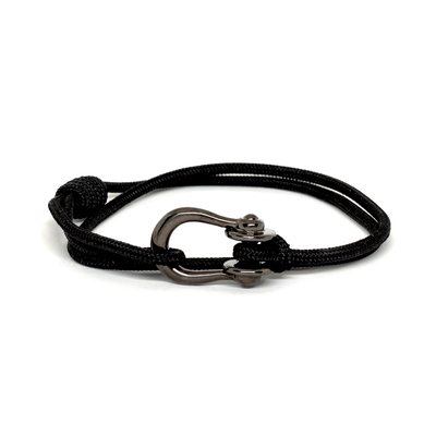 Kalymnos / Black Solid / Chrome Black - Kalymnos - Inspired by Rock-climbing - Matching Couple Bracelets - Topologie