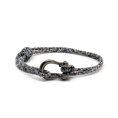 Kalymnos / Black Melange / Chrome Black - Kalymnos - Inspired by Rock-climbing - Matching Couple Bracelets - Topologie